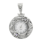 Серебряные часы-кулон  Yaffo с аметистом SAW763