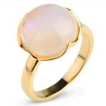 Серебряное кольцо Sandara с лунным камнем и позолотой ADR079