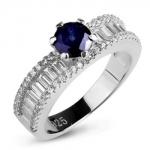 Серебряное кольцо Sandara с сапфиром и фианитами ANR3072