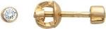 Серьга-гвоздик одиночная из золота с фианитами 01С114658