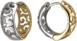 Серьги-кольца из комбинированного золота 01С068412Ж