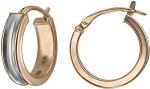 Серьги-кольца из золота 01С018557Р