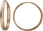 Серьги-конго из золота Т1С71231125