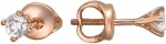 Серьги-пусеты из золота с бриллиантами Г10С610149