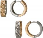 Серьги кольца из комбинированного золота 01С068401
