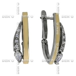 Серьги из серебра Deno MVE1277GCZ