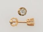 Серьги пусеты из золота с бриллиантами 01С612287