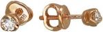 Серьги пусеты из золота с бриллиантами Г10С610308