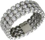 Широкое кольцо из серебра с фианитами Сваровски Т20К151419