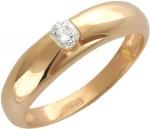 Широкое кольцо из золота с бриллиантами 01К615042