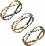Тонкое кольцо бесконечность из комбинированного золота 01К068421