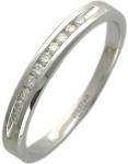 Тонкое кольцо дорожка из золота с бриллиантами 01К625261