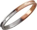 Тонкое обручальное кольцо из комбинированного золота 01К067886