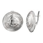 Серебряные серьги Узор Утум C011