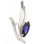 Серебряная серьга Узор Утум фианитом C139
