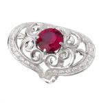 Серебряное кольцо Узор Утум K046