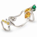 Серебряное кольцо Узор Утум K142-2