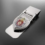 Зажим для денег УСБ ФСБ России(эмблема из серебра 925 пробы)