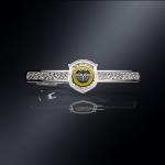 Серебряный зажим для галстука СПЕЦНАЗ ГРУ (серебро 925 пробы)