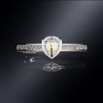 Серебряный зажим для галстука ЦСН АЛЬФА(серебро 925 пробы)