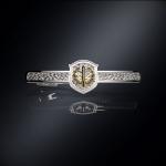 Серебряный зажим для галстука РВСН РОССИИ (серебро 925 пробы)