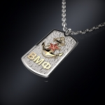 Серебряный жетон ВМФ (серебро 925 пробы)