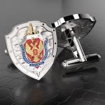 Серебряные запонки ФСБ РОССИИ (серебро 925 пробы)
