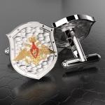 Серебряные запонки Министерство Обороны РОССИИ (серебро 925 пробы)