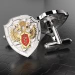 Серебряные запонки ФСКН РОССИИ (серебро 925 пробы)
