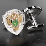Серебряные запонки Прокуратура РОССИИ (серебро 925 пробы)