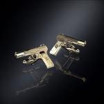 Серебряные запонки пистолет ТТ (серебро 925 пробы)