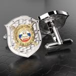 Серебряные запонки ДПС ГИБДД МВД России (серебро 925 пробы)