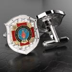Серебряные запонки Участник ликвидации последствий аварий (ЧАЭС) (серебро 925 пробы)