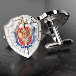 Серебряные запонки ЦСН ФСБ России (серебро 925 пробы)