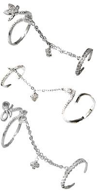 Слейв-браслеты и кольца на две фаланги