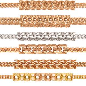 Золотые цепи и браслеты