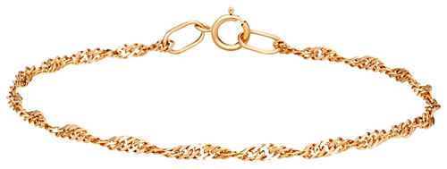 Браслет золотой полый (легковесный) плетения Панцирная двойная сколоченная «Элика»