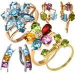 Коллекция с цветными камнями