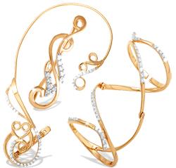 Каффы и фаланговые кольца из золота