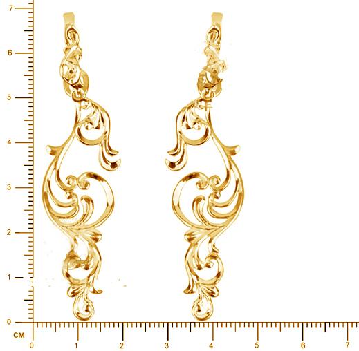 Золотые серьги Узор Утум C062G