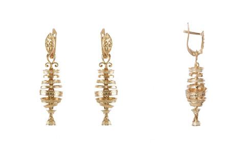 Золотые серьги Узор Утум Танцующие Чороны