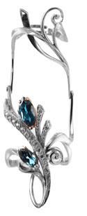 Серебряное кольцо на две фаланги Узор Утум K175