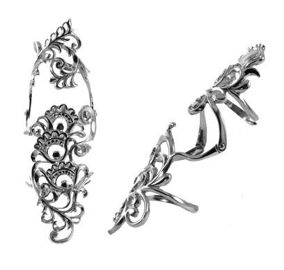 Серебряное кольцо Узор Утум YK181