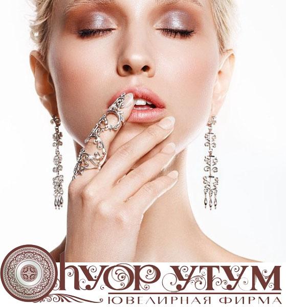 Якутские серебряные и золотые украшения Узор Утум